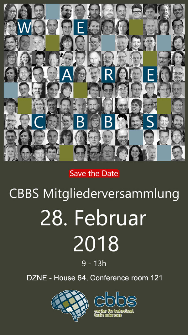CBBS members´meeting @ DZNE, House 64, conference room 121 | Magdeburg | Sachsen-Anhalt | Germany