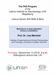LIN PhD Program: Modulations of sleep dependent memory consolidation. @ Ebbinghaus Lecture Hall, Leibniz Institute for Neurobiology | Magdeburg | Sachsen-Anhalt | Germany
