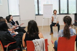 "Workshop ""Discover what you do best!"" with Dominik Frisch."