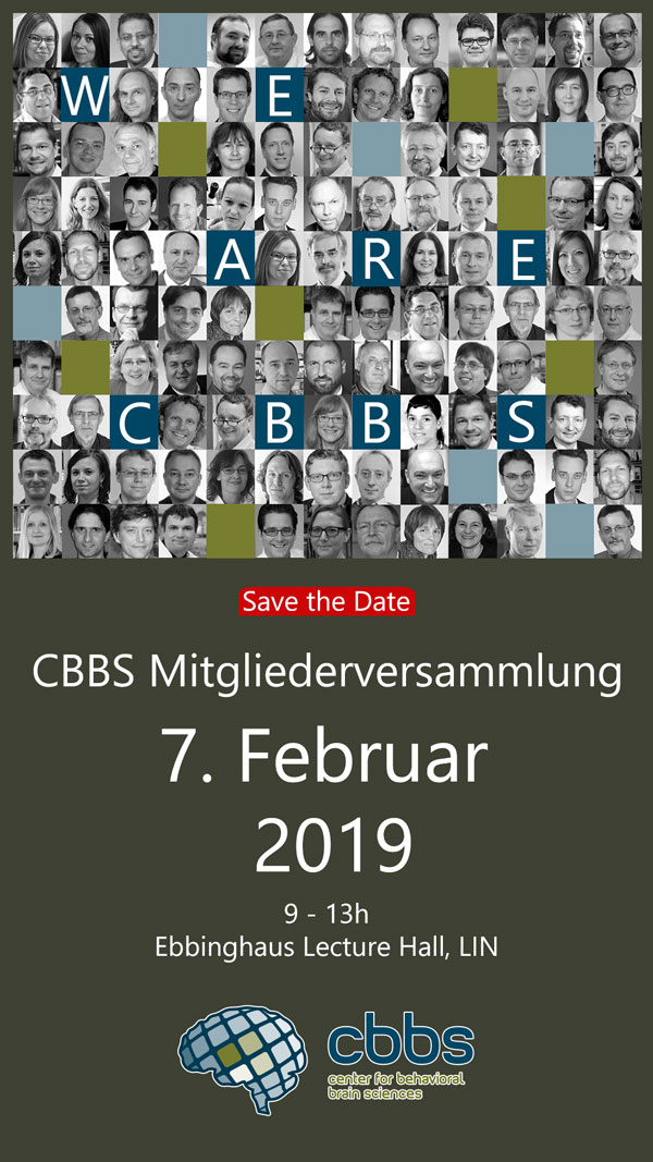 CBBS members´meeting @ Ebbinghaus Lecture Hall, Leibniz Institute for Neurobiology