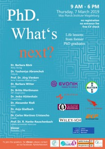 MPI invites all PhD students to: PhD. What`s next? @ Max-Planck-Institut for Dynamics of complex technical Systems Magdeburg