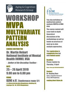 Workshop: Multivariate Pattern Analysis @ DZNE, House 64, conference room 121