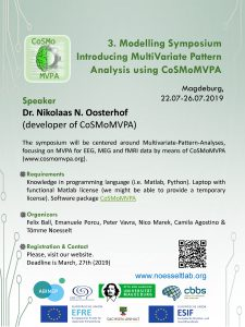 "Modelling Symposium ""Introducing MultiVariate Pattern Analysis using CoSMoMVPA"" @ OVGU main campus, House 28, Room 27"
