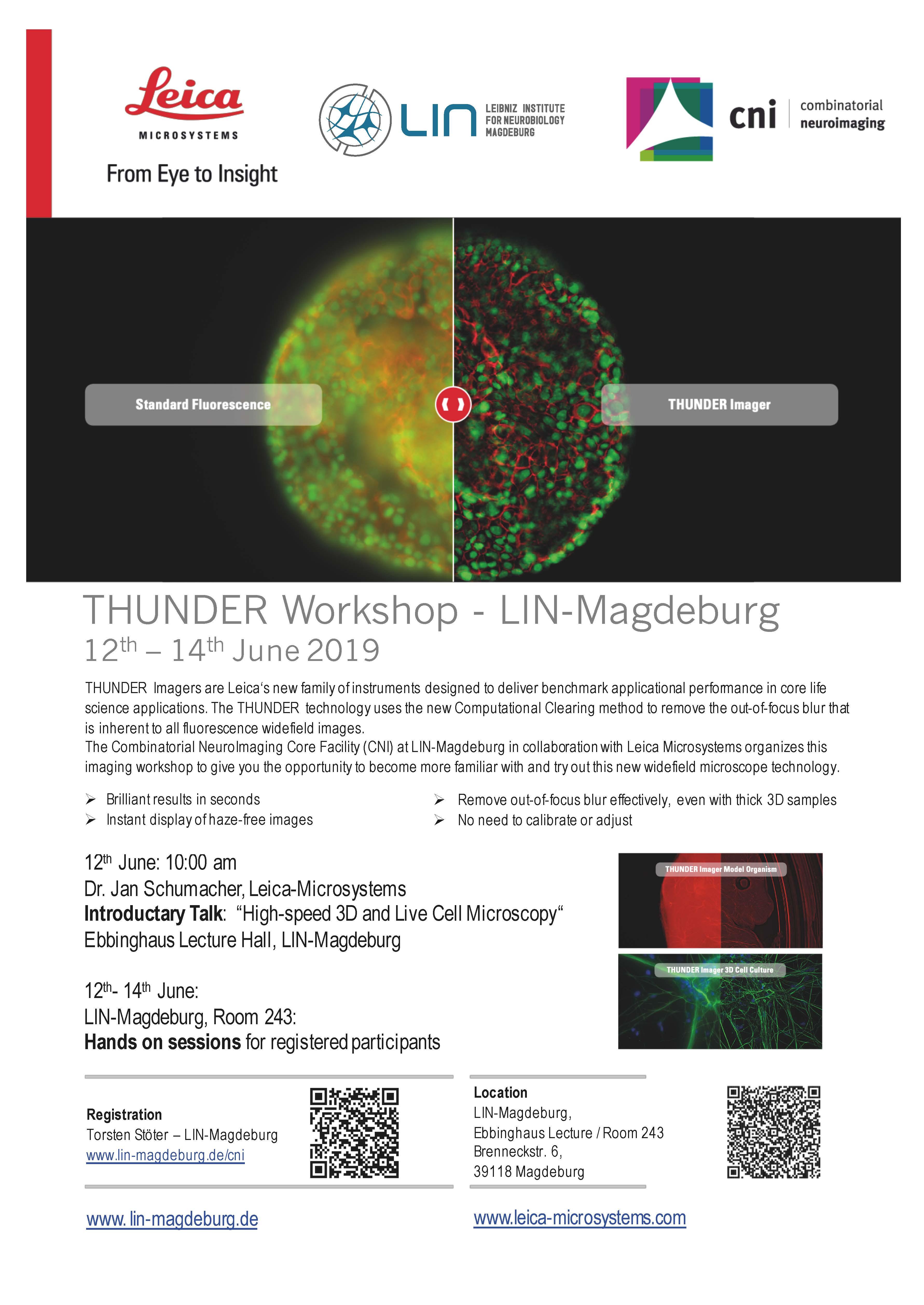 Microscopy workshop on fast 3D-live cell imaging @ Leibniz Institute for Neurobiology Magdeburg, Room 243