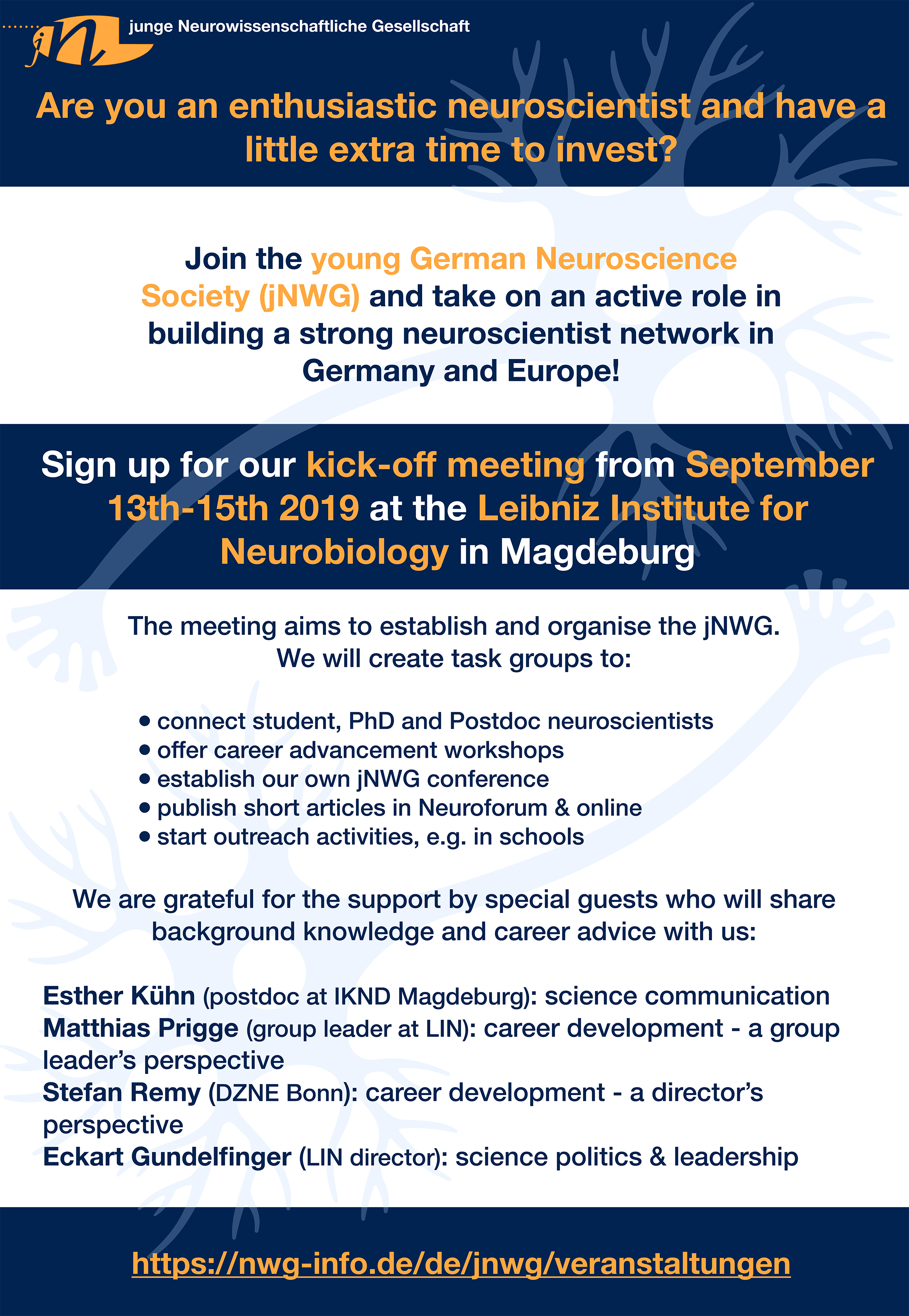 Kick-off: young German Neuroscience Society (jNWG) @ Leibniz Institute for Neurobiology Magdeburg
