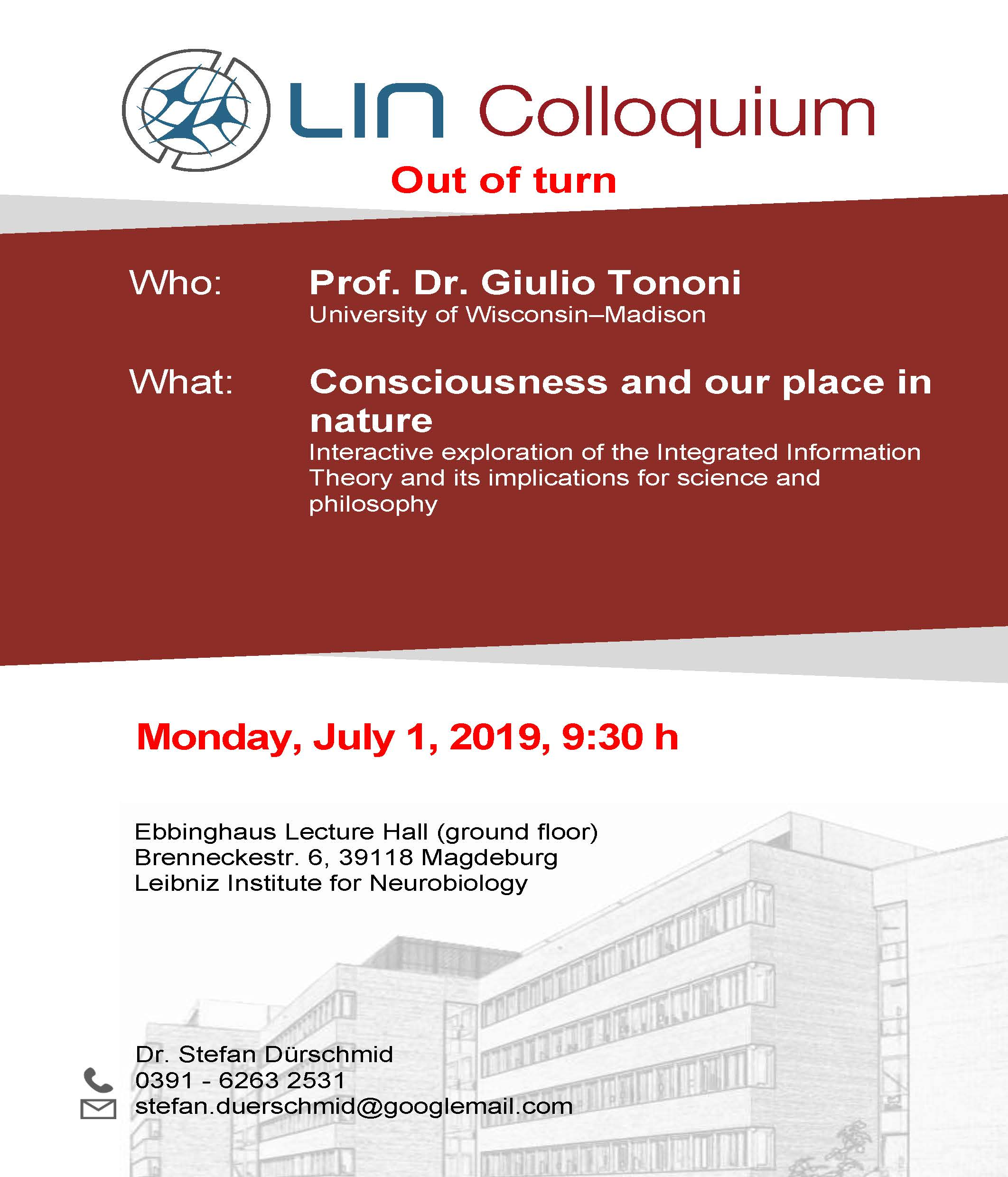 LIN Colloquium: Consciousness and our place in nature