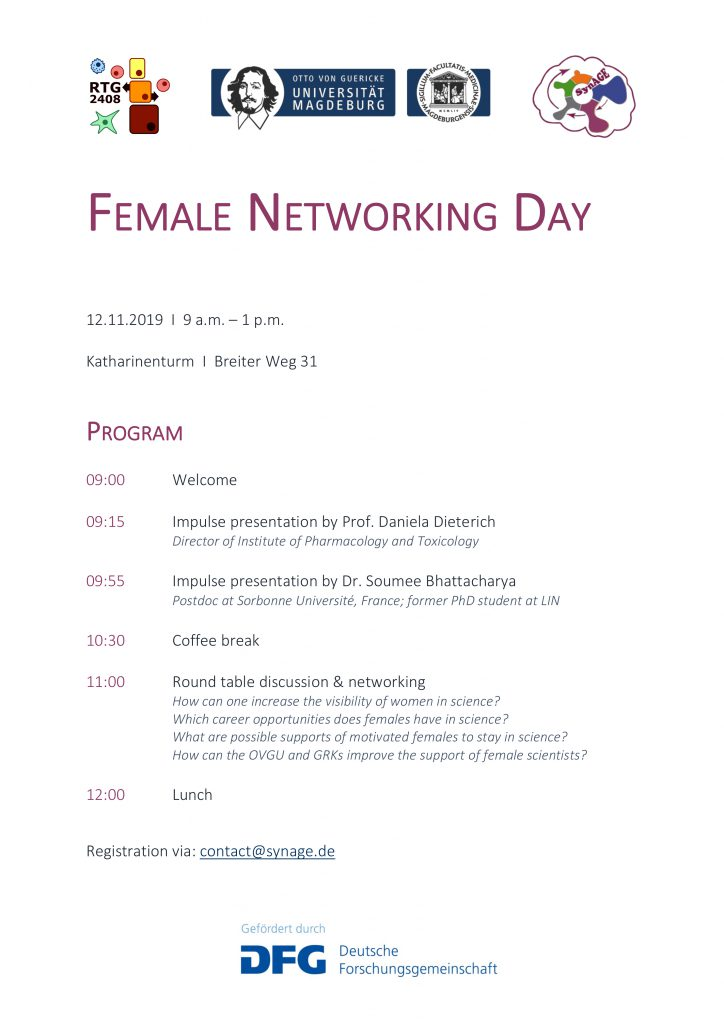 RTG Event (for female scientists only): Let us communicate, debate and network! @ Katharinenturm