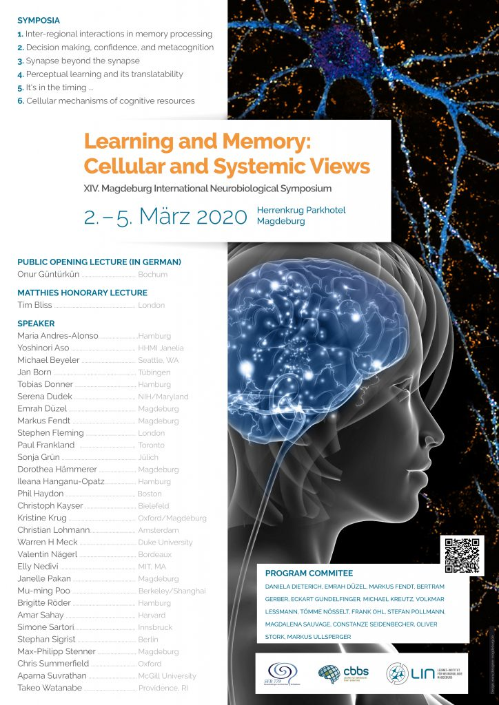 Conference: LEARNING AND MEMORY: CELLULAR AND SYSTEMIC VIEWS @ Herrenkrug Parkhotel Magdeburg