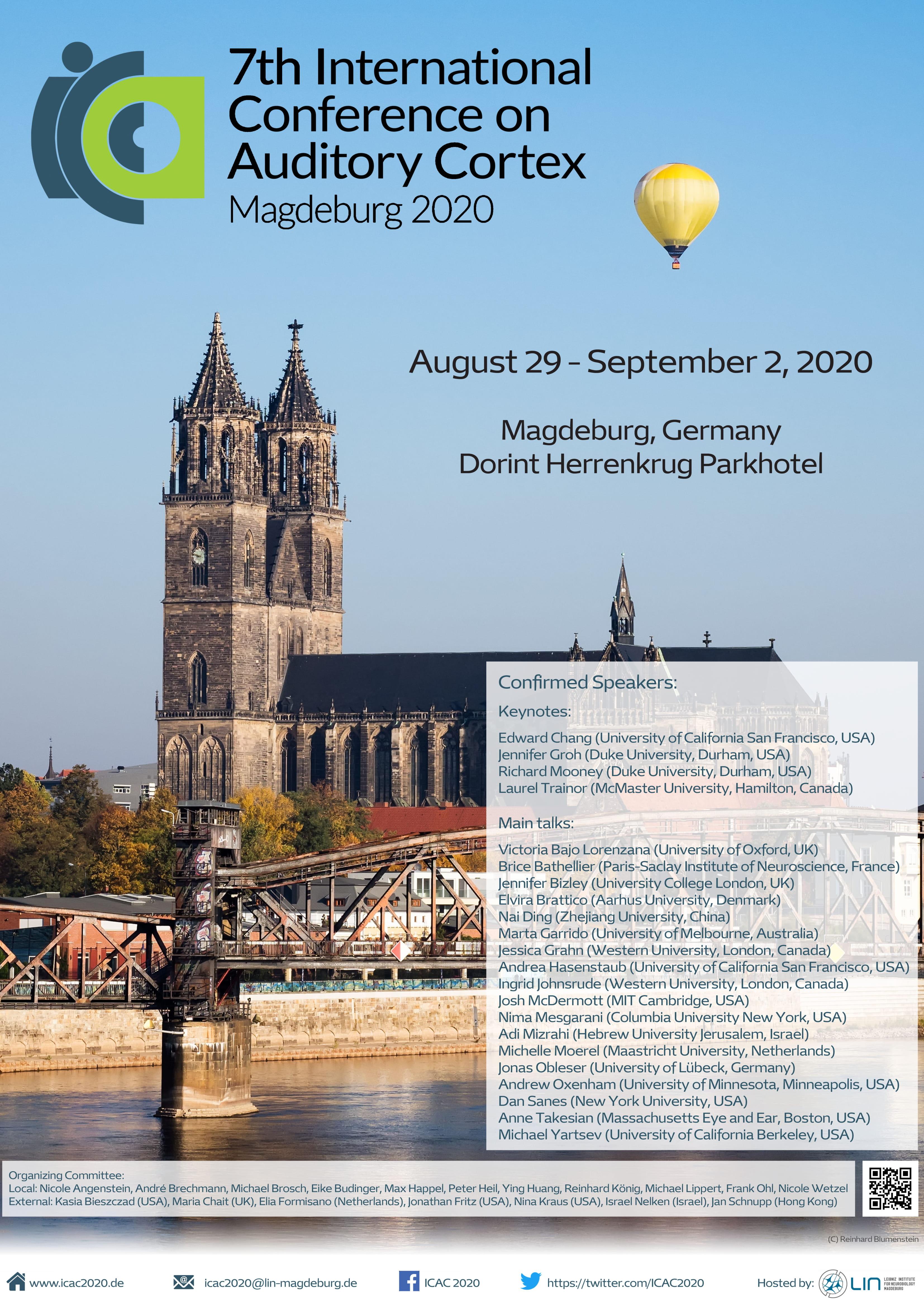 Postponed to August 2021: 7th International Conference on Auditory Cortex @ Herrenkrug Parkhotel