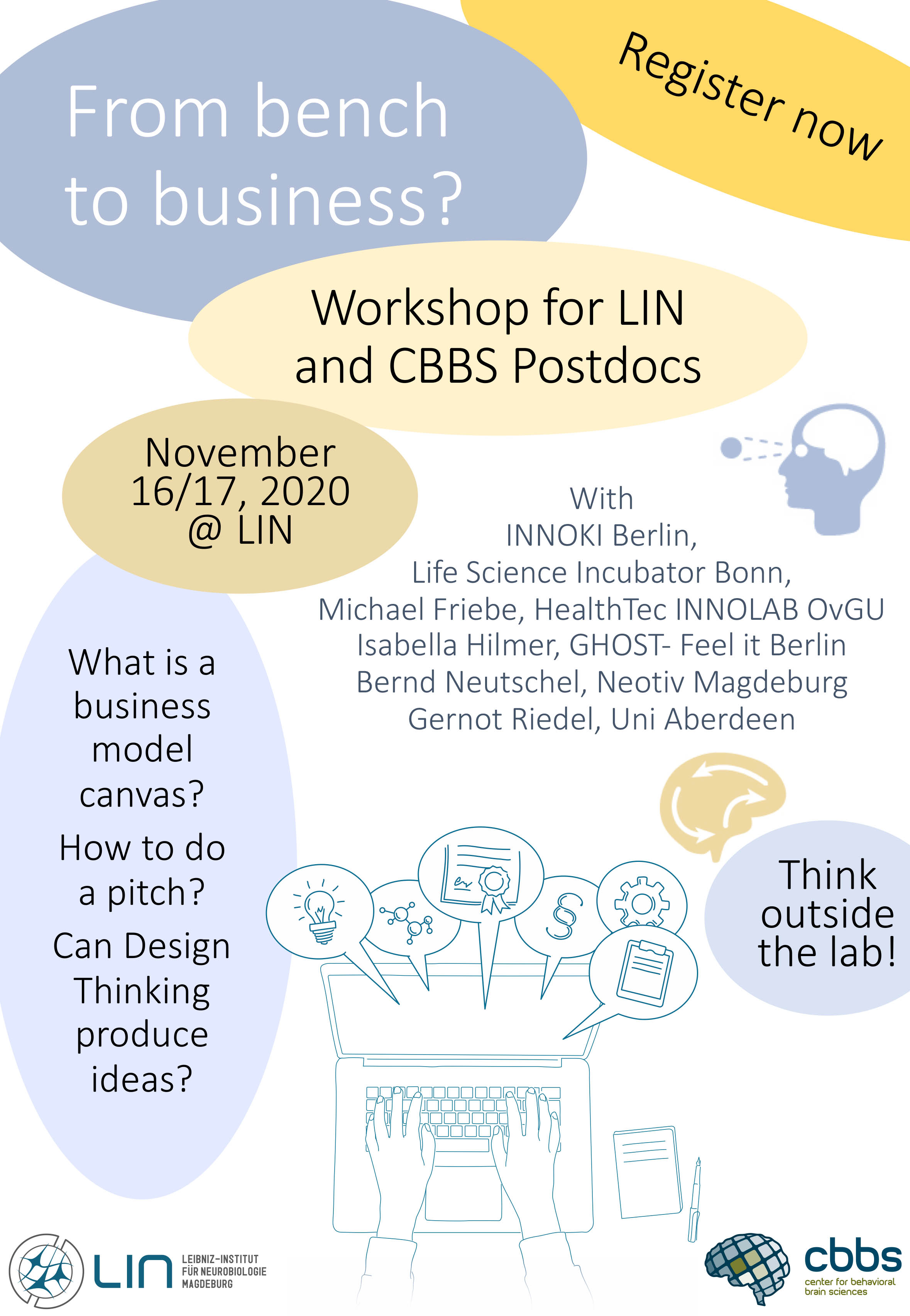 Workshop for LIN/CBBS Postdocs: From Bench to Business? @ LIN