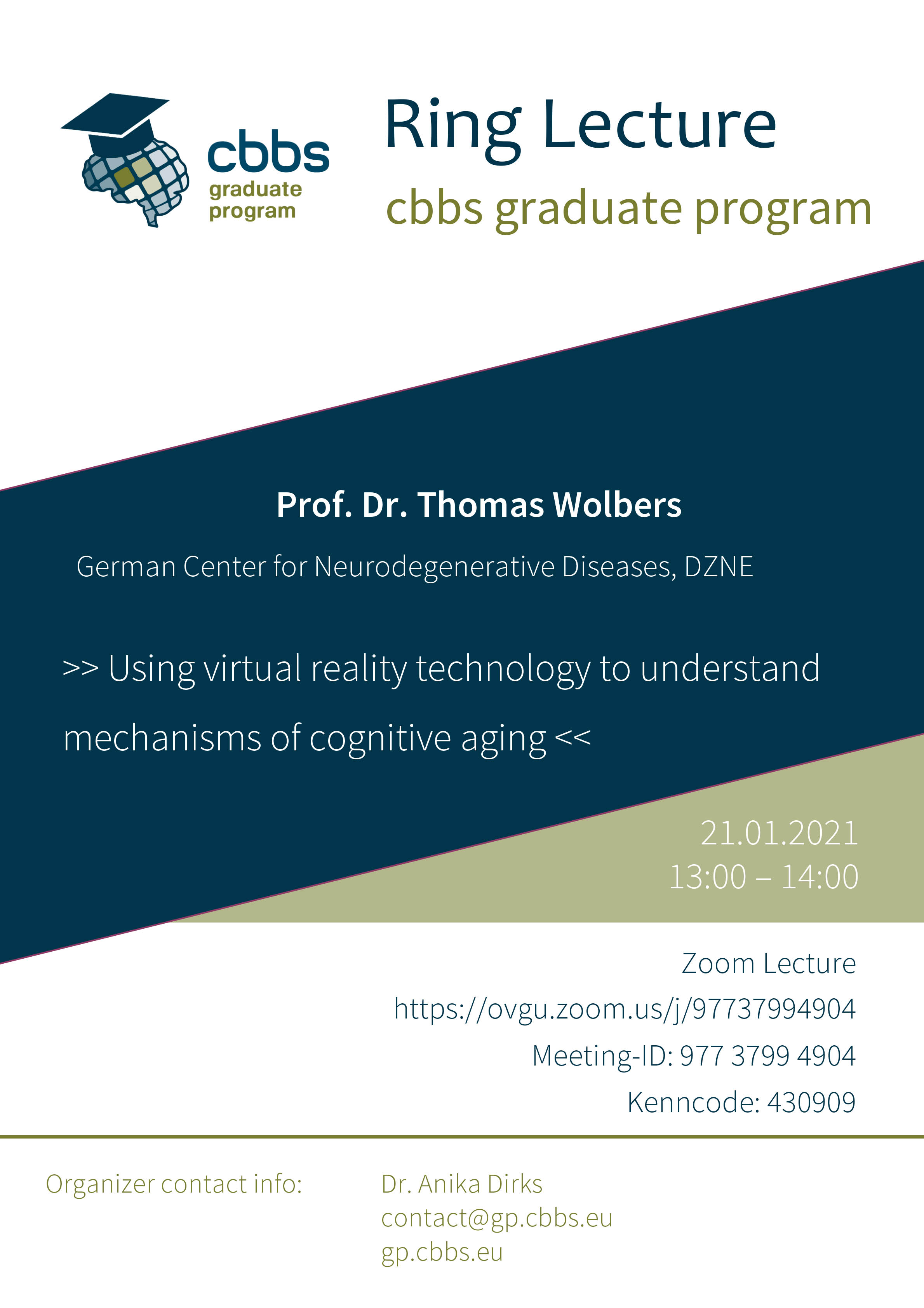 CBBS GP Ringlecture: Using virtual reality technology to understand mechanisms of cognitive aging @ Zoom