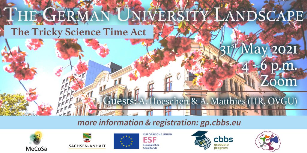 The German University Landscape: The Tricky Science Time Act @ Zoom