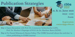 CBBS GP Workshop: Publication Strategies @ Zoom