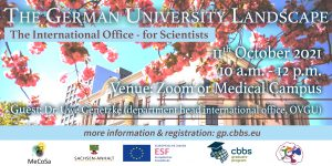 Event Series The German University Landscape: The International Office @ Zoom or Medical Campus